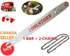 """TOOLSTORM Pro Chainsaw Bar and Chain (2X) 24"""" 3/8 .063 84DL Stihl MS660 MS390"""