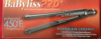 BABYLISS PRO 1 in Professional Flat Iron Porcelain Ceramic Hair Straightener NEW