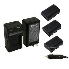 3 Battery + Charger Combo Kit for Canon LP-E6 EOS 5D Mark II 5D Mark III 7D 60D