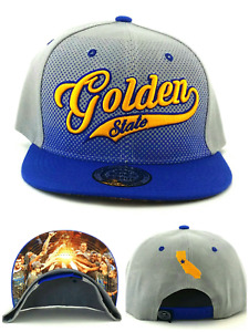 Golden State New Kings Choice Leader Warriors Blue Gray Era Snapback Hat Cap