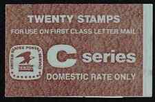 "Scott #BK 141...""C""...(20)  Cent ...Eagle. ...20 Stamps"