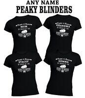Peaky Blinders Ladies T-shirt t shirt top Personalised any name