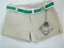 Juniors Sz 3 Casual shorts with Belt Solid Beiges BeBop NWT