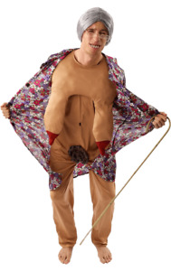 Mens Groping Granny Dirty Old Lady Rude Stag Night Fancy Dress Costume