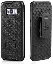 WizGear Shell Holster Combo Case Samsung Galaxy S8 plus W Kick-stand & Belt Clip