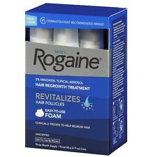 Rogaine Hair Regrowth Men 5% Minoxidil Topical Foam 3 month exp 06/2018