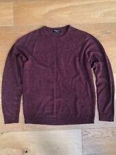 Mens fine knit jumper, Cedarwood State, round neck, burgundy, size XL