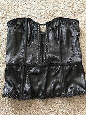 c0d63ff5b48ed Victoria s Secret Black Velvet Shine Rhinestone Embellished Bustier Sz. S