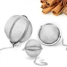 Nice!! Small Tea Filter Steel Infuser Strainer Mesh Spoon Locking Spice Ball