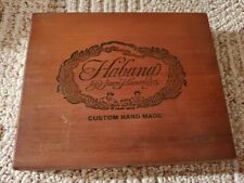 New listing Habana Custom Cigars By Juan Hernandez Wood Cigar Box - Beautiful! 25 Cigar Ct