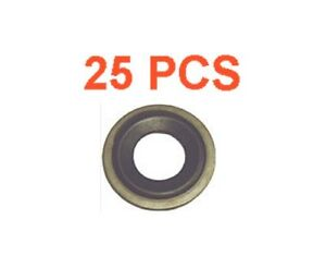 (25) Marli 12mm Metal Rubber M12 Oil Drain Plug Gasket Fits GM Chevy Cadillac