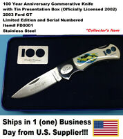 2003 FORD GT COMMEMORATIVE KNIFE W/BOX  (New, Dealer Old Stock-2002)