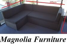 RATTAN FURNITURE OUTDOOR SOFA LOUNGE SET ALUMINIUM FRAME PE WICKER 4seater COUCH