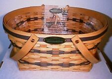 Longaberger Rare Retired 1996 Traditions Community Basket & Protector Set
