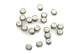 20 Antique Silver Plated Roundish Square Beads 4MM