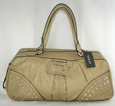 NEW GUESS BY MARCIANO BEIGE STONE LEATHERETTE VIVE LE ROCK SATCHEL HANDBAG