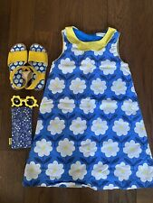 Mini Boden Retro 1960s Flower Dress 11-12 Years Matching Sunglasses & Sandals