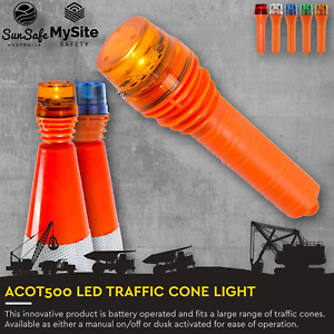 ACOT500 Traffic Cone Light LED Lamp Roadside Warning Light to Suit Traffic Cones
