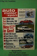 AMS Auto Motor Sport 5/83 Porsche 911 Cabrio BMW 318i Mazda 626 DB 190