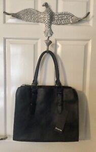 FIRETRAP NEW LARGE BLACK HANDBAG TOTE SHOPPER GRAB BAG - NEW WITH TAGS - £40.00