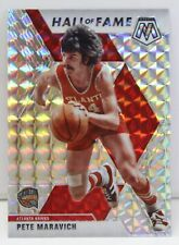 Pistol Pete Maravich 2019-20 SILVER WAVE MOSAIC PRIZM Hall of Fame Card #295 SP