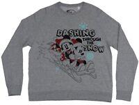 Mickey Mouse Light Girls Pullover Sweatshirt - Dashing Through The Snow