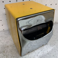 Vintage TIDYNAP 2 Sided Napkin Dispenser BRIGHR COLOR YELLOW RETRO DINER