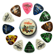 Alice 12Pcs Guitar Picks Mixed Color Thinkness & Gift Box Pick Holder Case Metal