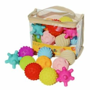 Baby Ball Bath Toys Rubber Textured Hands Sensory Training Motor Memory Skills