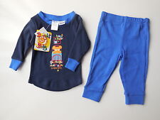 NEW Bright Bots baby boy stretch cotton pajamas size 000 Fits 0-3m RRP $24.95