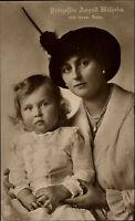 Adel Monarchie ~1910 Princess Prinzessin August Wilhelm Preußen nebst Sohn Baby