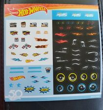 hotwheel 50th anniversary customization stickers