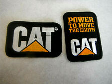 2 Vintage Cat Brand Caterpillar Equipment Advertising Cloth Sew Iron On PATCH