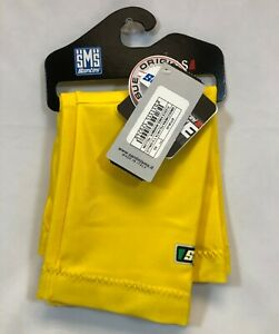 Santini Super Roubaix Fleece-Lined Cycling Knee Warmers in Yellow - Size XS