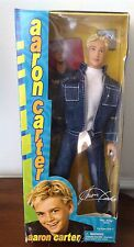 "AARON CARTER - 12"" DOLL Denim Concert Never Opened - 2001"