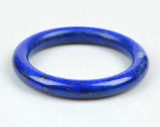 59.5mm Natural Lapis Lazuli Gemstone Round Bangle Bracelet