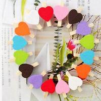 50pcs Mini Hearts Wooden Pegs Photo Clips Craft Wedding Party Decor