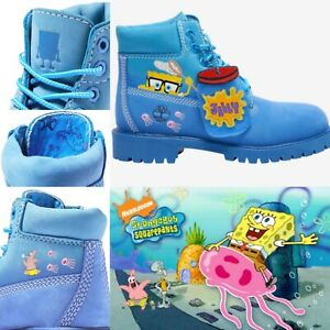 🌟Timberland SpongeBob 6 Inch Premium Waterproof Boot 🌟Size 2Y  💯 Authentic