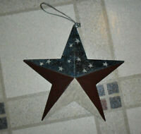 "Metal Red, White and Blue Barn Star 8"" Country Primitive NEW"