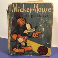1964 BETTER LITTLE BOOKS MICKEY MOUSE WALT DISNEY DETECTIVE WHITMAN WISCONSIN US