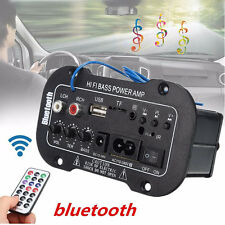 50W Bluetooth Car Subwoofer Hi-Fi Bass Stereo Amplifier Board MP3 Audio TF USB