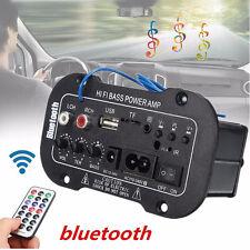 50W POWER AMP Mini Auto Bluetooth HiFi Bass Stereo Digitalverstärker USB Remote