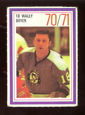 1970-71 ESSO POWER PLAYERS NHL #18 WALLY BOYER VG-EX PENGUINS UNUSED STAMP
