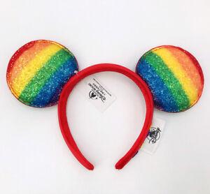 Cutie Gift Ears Minnie Mouse Rainbow Pride Love Headband Disney Parks SHDR 2021