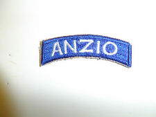 b5931 WW 2  US Army Anzio tab worn above 3rd Infantry Division for landing A7B10