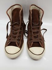 CONVERSE All Star Trainers CT High Top Brown Suede Fur Top Size 5 Euro 38 RETRO