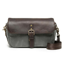 Ona Bowery Bag Leather Canvas Smoke Dark Truffle Borsa Ona5 014grldb