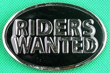 "Belt Buckle ""RIDERS WANTED"" 3.8cm Wide Belt, DIY, Custom, Metal Casting."