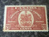 CANADA SPECIAL DELIVERY EXPRESS POSTAGE STAMP SGS10 20 CENTS SCARLET LMM