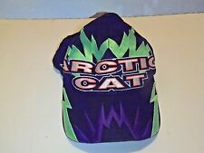 VTG Arctic Cat Snowmobile Racing Hat Black SnapBack Cap 1980's 1990's